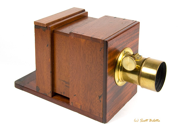 Mahogany Sliding Box Camera